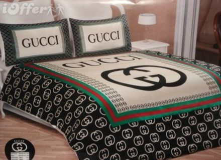 Gucci 6pcs Authentic Luxury Bed Set Satin Made In Italy